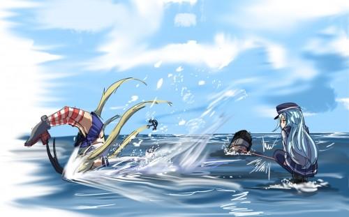 二次 エロ 萌え ゲーム 艦隊これくしょん 艦これ 暁型四姉妹 クール ロシア ヴェールヌイ 銀髪・白髪 青髪 帽子 キャップ セーラー服 駆逐艦 吹雪型 ハラショーマシン 二次エロ画像 hibikikancolle10020170619056