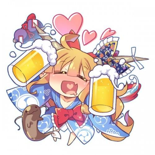 二次 非エロ 萌え フェチ お酒 ビール ジョッキ 缶ビール ディアンドル 酔っ払い 泥酔 二次微エロ画像 beer10020170718011