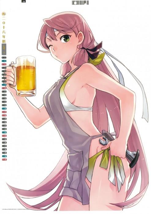 二次 非エロ 萌え フェチ お酒 ビール ジョッキ 缶ビール ディアンドル 酔っ払い 泥酔 二次微エロ画像 beer10020170718029