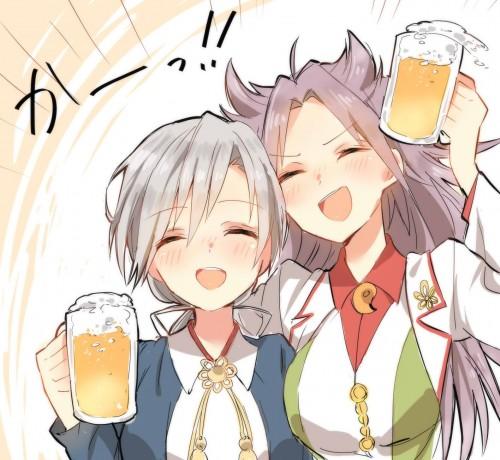 二次 非エロ 萌え フェチ お酒 ビール ジョッキ 缶ビール ディアンドル 酔っ払い 泥酔 二次微エロ画像 beer10020170718079