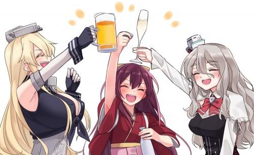 二次 非エロ 萌え フェチ お酒 ビール ジョッキ 缶ビール ディアンドル 酔っ払い 泥酔 二次微エロ画像 beer10020170718085