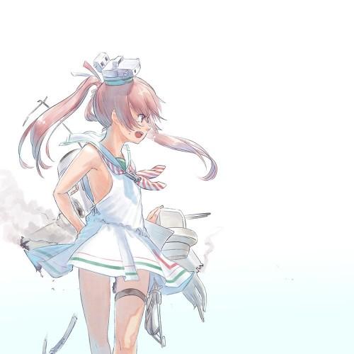 二次 エロ 萌え ゲーム 艦隊これくしょん 艦これ 擬人化 ロリ 貧乳 ノースリーブセーラー服 リベッチオ(Libeccio)ツインテール 八重歯 茶髪 しまパン わき 二次エロ画像 libecciokancolle10020170708037