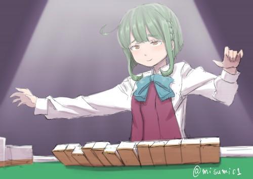 二次 非エロ 萌え フェチ 麻雀 タンヤオ 咲 ネタ 二次非エロ画像 mahjong10020170801070