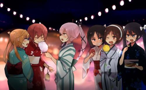 二次 萌え エロ フェチ 和服 着物 浴衣 はだけた 花火 脱衣 季節 夏 お祭り 二次エロ画像 yukata10020170721009