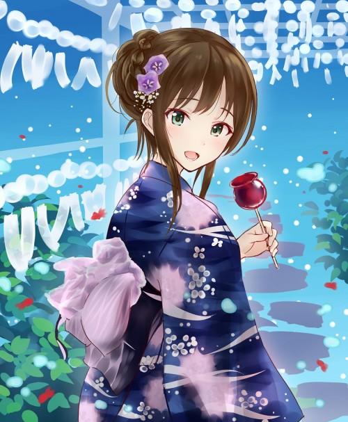 二次 萌え エロ フェチ 和服 着物 浴衣 はだけた 花火 脱衣 季節 夏 お祭り 二次エロ画像 yukata10020170721082