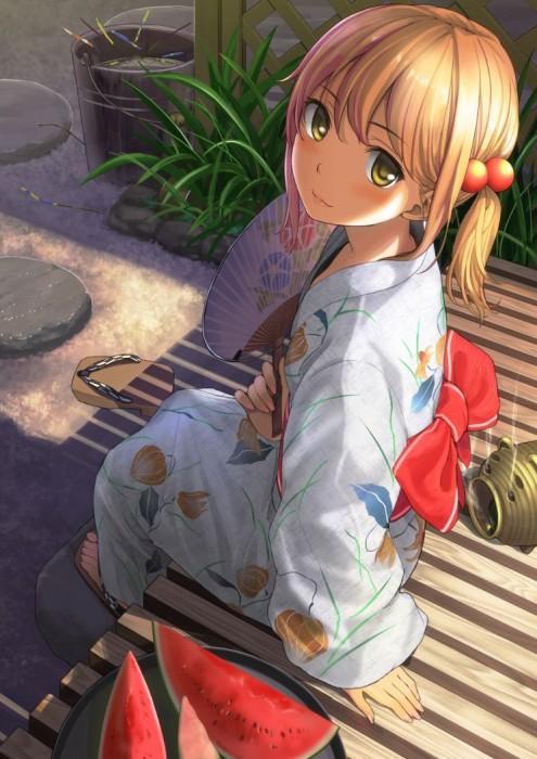 二次 萌え エロ フェチ 和服 着物 浴衣 はだけた 花火 脱衣 季節 夏 お祭り 二次エロ画像 yukata10020170721090