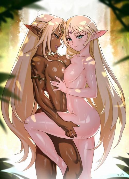 二次 エロ 萌え フェチ おっぱい 巨乳 百合 乳寄せ 抱き合ってる キス ベロチュー 乳首コリコリ 巨乳 貧乳 レズ 挟まれたいおっぱい 谷間が二つ 二次エロ画像 chichiawase2017081737