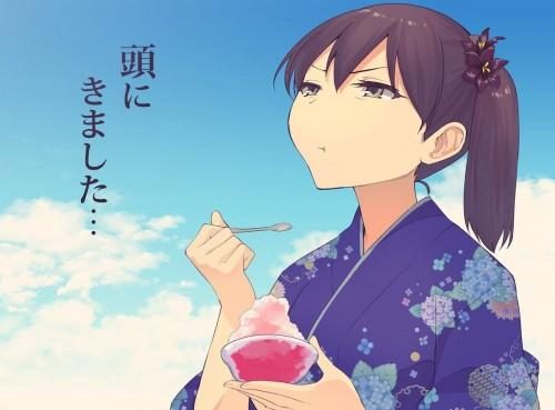 二次 非エロ 萌え フェチ 美少女風景 夏 暑い アイスクリーム カキ氷 季節 二次エロ画像 kakigoori2017081015