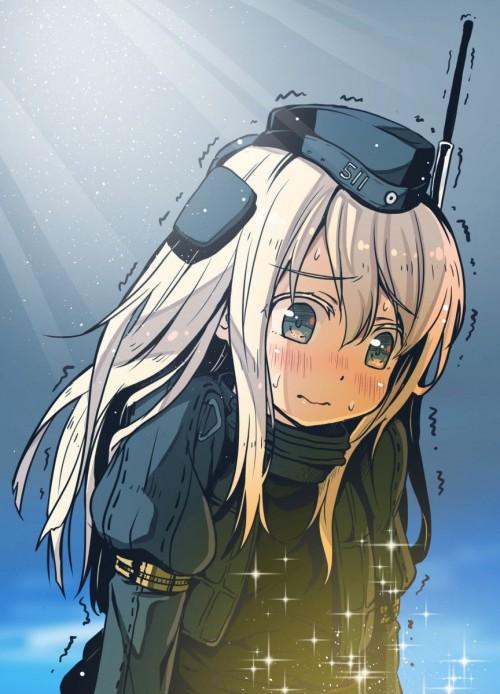 二次 エロ 萌え ゲーム 艦隊これくしょん 艦これ ロリ 貧乳 スク水 ノースリーブセーラー服 銀髪・白髪 ボディスーツ 日焼け 褐色 U-511・呂500 ユー ろー 泳ぐLO どうしてこうなった  信じて送り出したUボートが… 劇的ビフォーアフター セラスク LO500 浮き輪 帽子 潜水艦娘 島田フミカネ 二次エロ画像 u511ro500kancolle10020170925025