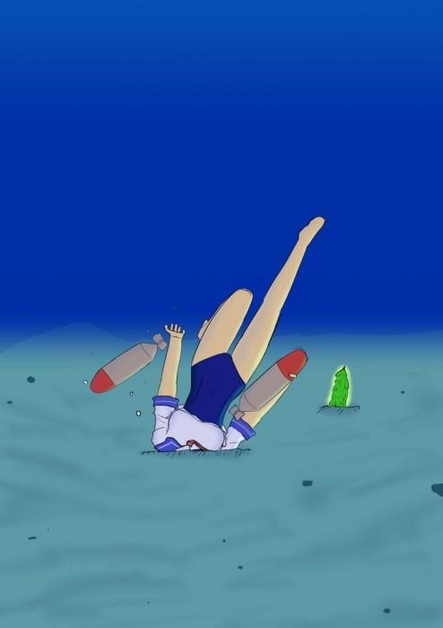 二次 非エロ 萌え ゲーム 艦隊これくしょん 艦これ 擬人化 伊58(ゴーヤ) 伊号第五八潜水艦 でち公 ピンク髪 ショートカット 短髪 アホ毛 オリョールクルージング オリョクル アホの子 スクール水着 セーラー服 二次微エロ画像 i58kancolle2017101134