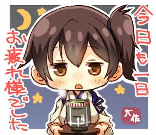 二次 非エロ 萌え お茶 日本茶 湯のみ 緑茶 食事風景 クッキー☆ ぷはーRIM 二次非エロ画像 ocha10020171031008