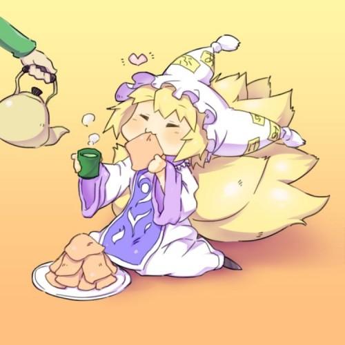 二次 非エロ 萌え お茶 日本茶 湯のみ 緑茶 食事風景 クッキー☆ ぷはーRIM 二次非エロ画像 ocha10020171031059