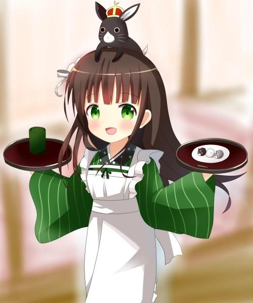 二次 非エロ 萌え お茶 日本茶 湯のみ 緑茶 食事風景 クッキー☆ ぷはーRIM 二次非エロ画像 ocha10020171031066