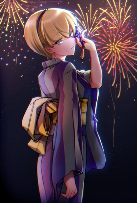 二次 萌え エロ フェチ 和服 着物 浴衣 はだけた 花火 脱衣 季節 夏 お祭り 二次エロ画像 yukata10020171016003