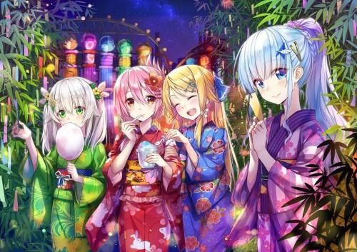 二次 萌え エロ フェチ 和服 着物 浴衣 はだけた 花火 脱衣 季節 夏 お祭り 二次エロ画像 yukata10020171016011
