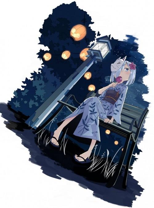 二次 萌え エロ フェチ 和服 着物 浴衣 はだけた 花火 脱衣 季節 夏 お祭り 二次エロ画像 yukata10020171016035