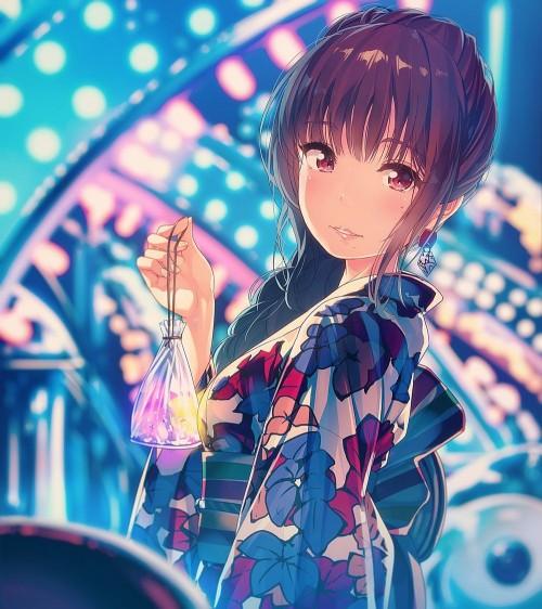 二次 萌え エロ フェチ 和服 着物 浴衣 はだけた 花火 脱衣 季節 夏 お祭り 二次エロ画像 yukata10020171016045