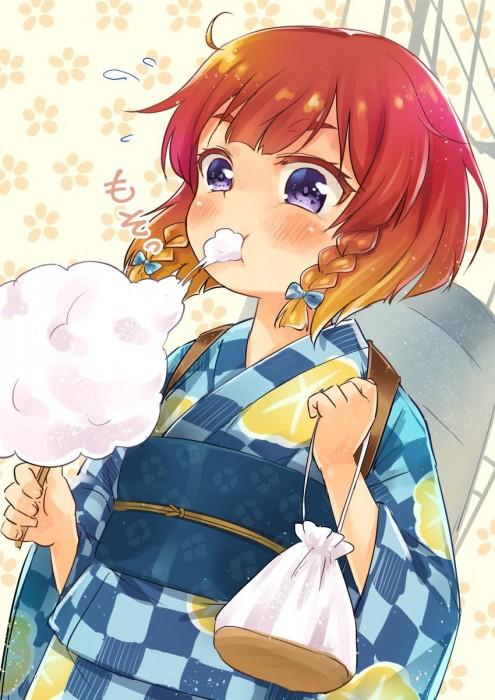 二次 萌え エロ フェチ 和服 着物 浴衣 はだけた 花火 脱衣 季節 夏 お祭り 二次エロ画像 yukata10020171016055