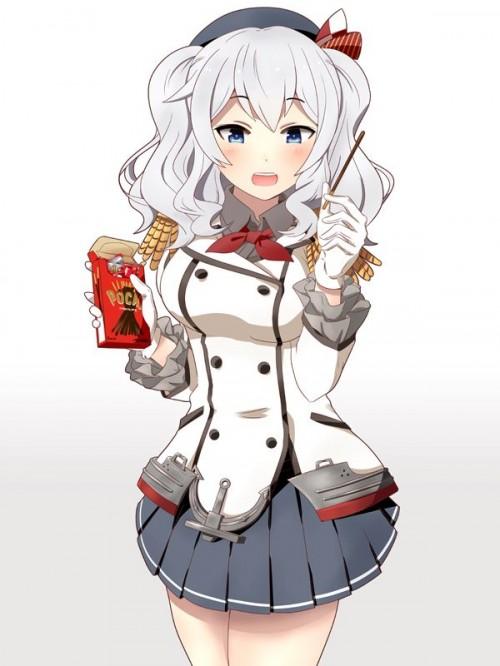 二次 非エロ 萌え フェチ ポッキー ポッキーゲーム ポッキーキス チョコレート 食べ物 食事風景 11月11日 二次非エロ画像 pocky2017111327