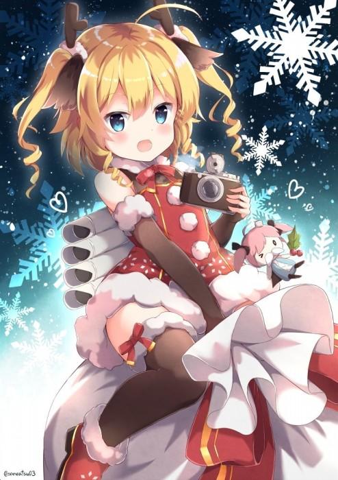 二次 萌え 非エロ フェチ コスプレ クリスマス 冬 サンタクロース サンタさん トナカイ 二次非エロ画像 christmas10020171225089