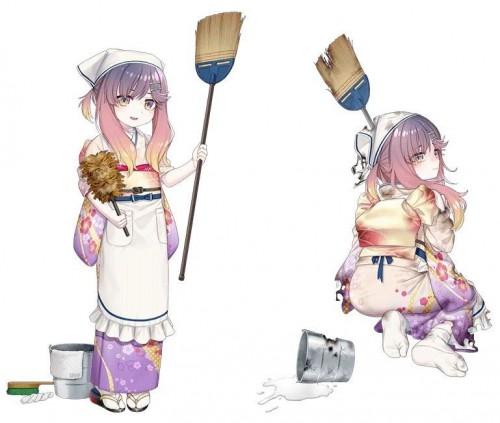 二次 萌え 非エロ 大掃除 掃除機 ルンバ 雑巾 箒 メイド 二次非エロ画像 souji2017122924