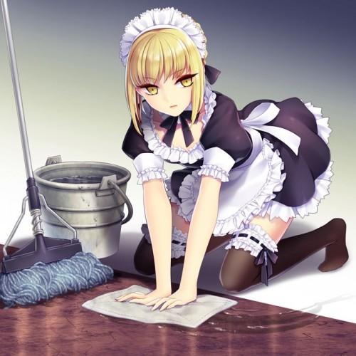 二次 萌え 非エロ 大掃除 掃除機 ルンバ 雑巾 箒 メイド 二次非エロ画像 souji2017122943