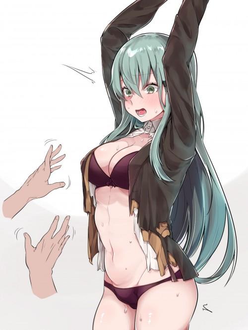 二次 エロ 萌え フェチ エロハプニング 服が破けてる ビリビリ ラッキースケベ 半裸 中破 大破 レイプ 強姦 着衣SEX 二次エロ画像 hukubiri2018012025
