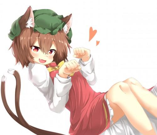 二次 エロ 萌え ゲーム 東方project けもみみ ねこみみ 猫耳 ねこミミ ネコミミ 尻尾 しっぽ 帽子 ロリ 橙 ショートカット・短髪 茶髪 二次エロ画像 chentouhou10020180222020