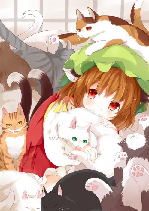 二次 エロ 萌え ゲーム 東方project けもみみ ねこみみ 猫耳 ねこミミ ネコミミ 尻尾 しっぽ 帽子 ロリ 橙 ショートカット・短髪 茶髪 二次エロ画像 chentouhou10020180222034
