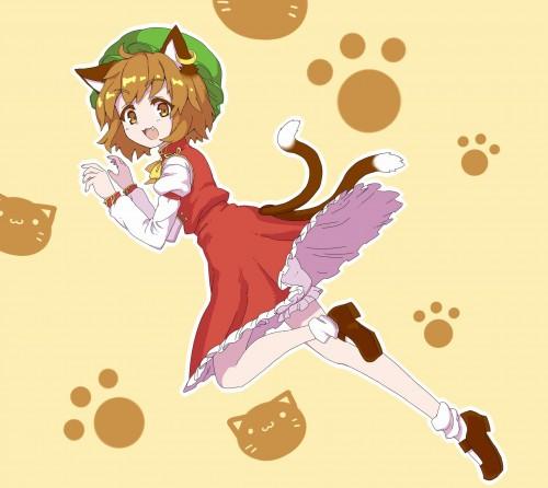 二次 エロ 萌え ゲーム 東方project けもみみ ねこみみ 猫耳 ねこミミ ネコミミ 尻尾 しっぽ 帽子 ロリ 橙 ショートカット・短髪 茶髪 二次エロ画像 chentouhou10020180222048