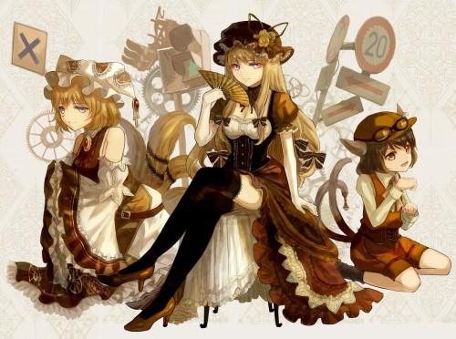 二次 エロ 萌え ゲーム 東方project けもみみ ねこみみ 猫耳 ねこミミ ネコミミ 尻尾 しっぽ 帽子 ロリ 橙 ショートカット・短髪 茶髪 二次エロ画像 chentouhou10020180222050