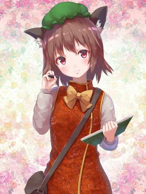 二次 エロ 萌え ゲーム 東方project けもみみ ねこみみ 猫耳 ねこミミ ネコミミ 尻尾 しっぽ 帽子 ロリ 橙 ショートカット・短髪 茶髪 二次エロ画像 chentouhou10020180222075