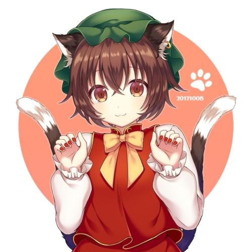 二次 エロ 萌え ゲーム 東方project けもみみ ねこみみ 猫耳 ねこミミ ネコミミ 尻尾 しっぽ 帽子 ロリ 橙 ショートカット・短髪 茶髪 二次エロ画像 chentouhou10020180222087