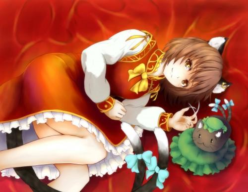 二次 エロ 萌え ゲーム 東方project けもみみ ねこみみ 猫耳 ねこミミ ネコミミ 尻尾 しっぽ 帽子 ロリ 橙 ショートカット・短髪 茶髪 二次エロ画像 chentouhou10020180222091