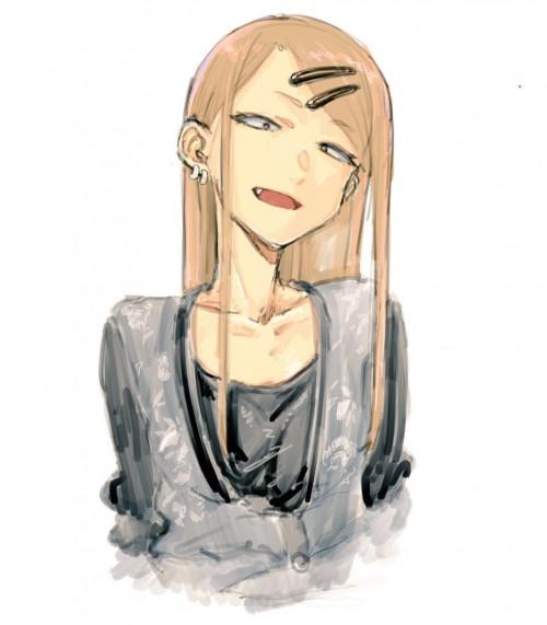 二次 エロ 萌え アニメ 漫画 だがしかし 遠藤サヤ 八重歯 四白眼のスレンダー少女 ピアス 茶髪 おでこ サヤ師 ピアス ヘアピン 二次エロ画像 endousaya2018022607