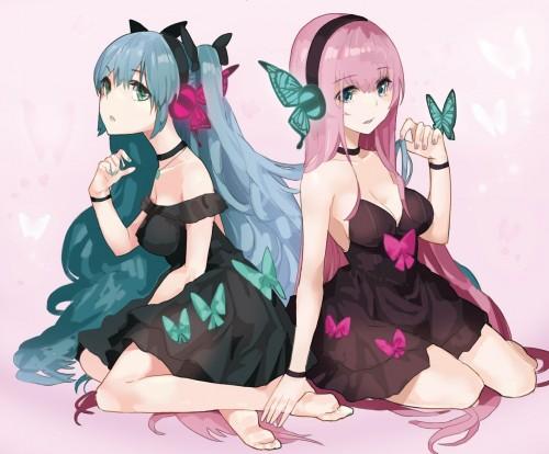 二次 微エロ ゲーム ボーカロイド 巡音ルカ 巨乳 ピンク髪 性能をもてあます ピンクの女神 二次非エロ画像 megurineluka2018020208