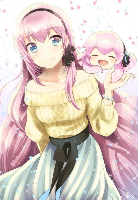 二次 微エロ ゲーム ボーカロイド 巡音ルカ 巨乳 ピンク髪 性能をもてあます ピンクの女神 二次非エロ画像 megurineluka2018020211