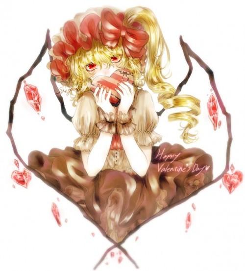 二次 非エロ 萌え フェチ バレンタイン チョコレート 裸リボン プレゼント 裸チョコ 赤面 照れてる 恥ずかしがってる 表情 二次微エロ画像 valentine10020180214071