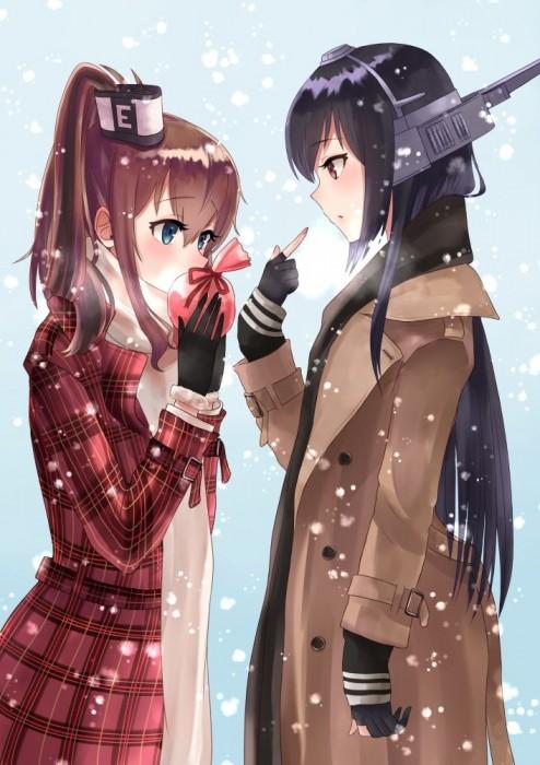 二次 非エロ 萌え フェチ バレンタイン チョコレート 裸リボン プレゼント 裸チョコ 赤面 照れてる 恥ずかしがってる 表情 二次微エロ画像 valentine10020180214098