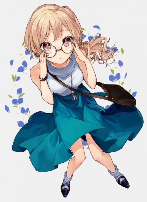 二次 非エロ 萌え フェチ メガネ めがね 眼鏡 眼鏡っ娘 二次非エロ画像 meganekuitto2018032945