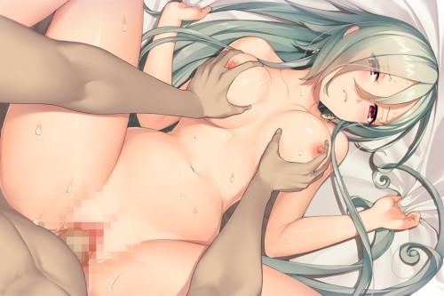 二次 エロ 萌え フェチ シーツ掴み セックス 寝そべり 誘惑 抱き枕 うつ伏せ 仰向け 二次エロ画像 sheettsukami2018031612
