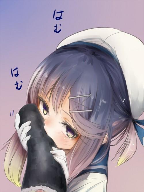 二次 エロ 萌え ゲーム 艦隊これくしょん 艦これ 擬人化 対馬 ロリ 貧乳 帽子 紫髪 セーラー服 手袋 魔性の対馬 危険 泣きぼくろ 黒子 小悪魔系 臨安 ニーソ 二次エロ画像 tushimakancolle2018032331