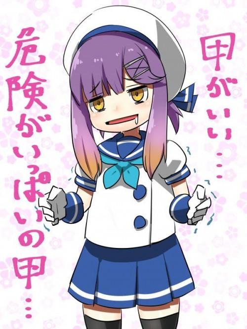 二次 エロ 萌え ゲーム 艦隊これくしょん 艦これ 擬人化 対馬 ロリ 貧乳 帽子 紫髪 セーラー服 手袋 魔性の対馬 危険 泣きぼくろ 黒子 小悪魔系 臨安 ニーソ 二次エロ画像 tushimakancolle2018032349