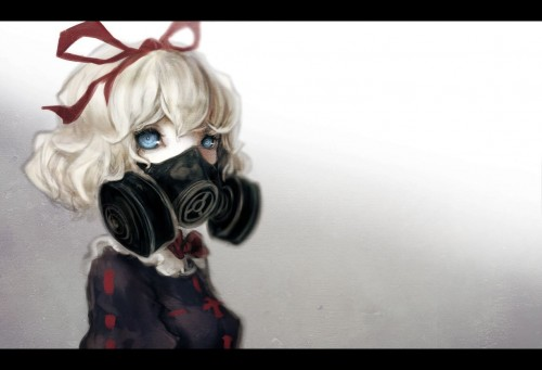 二次 非エロ 萌え フェチ ガスマスク 銃 武装少女 花粉 二次非エロ画像 gasmask2018041202