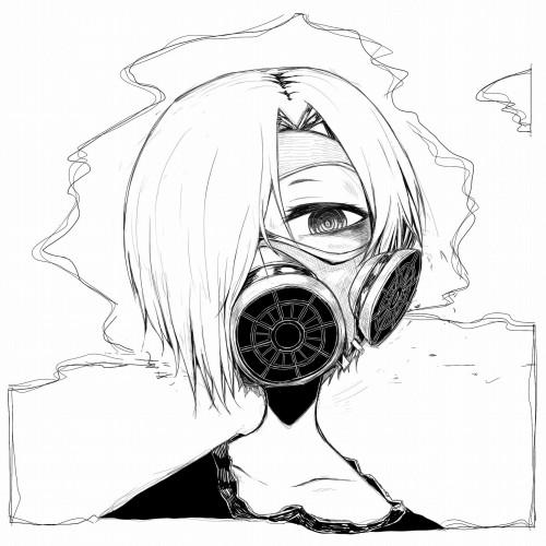 二次 非エロ 萌え フェチ ガスマスク 銃 武装少女 花粉 二次非エロ画像 gasmask2018041205