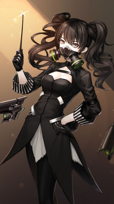 二次 非エロ 萌え フェチ ガスマスク 銃 武装少女 花粉 二次非エロ画像 gasmask2018041207