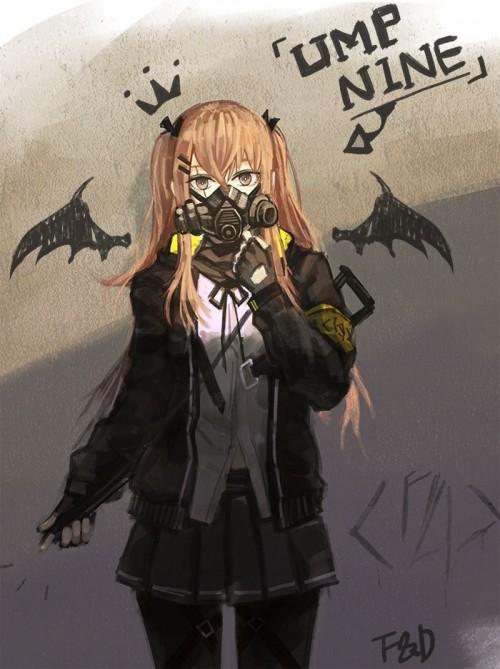 二次 非エロ 萌え フェチ ガスマスク 銃 武装少女 花粉 二次非エロ画像 gasmask2018041208