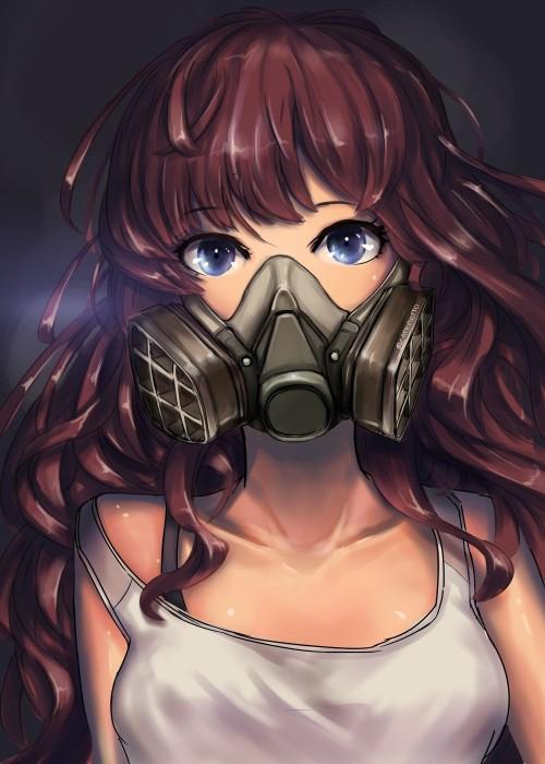 二次 非エロ 萌え フェチ ガスマスク 銃 武装少女 花粉 二次非エロ画像 gasmask2018041213