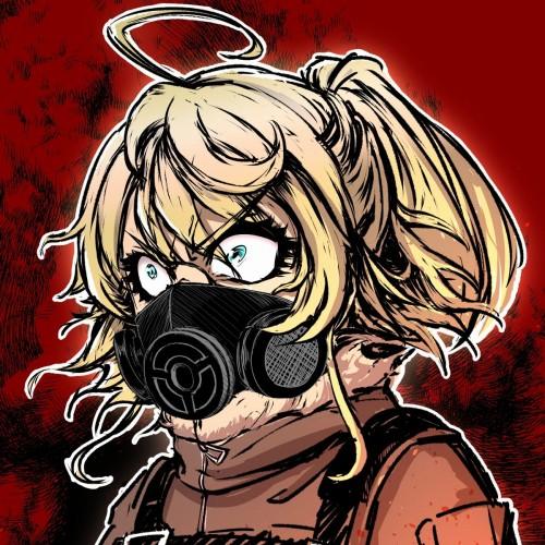 二次 非エロ 萌え フェチ ガスマスク 銃 武装少女 花粉 二次非エロ画像 gasmask2018041225
