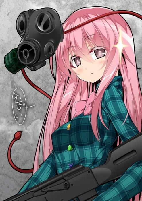 二次 非エロ 萌え フェチ ガスマスク 銃 武装少女 花粉 二次非エロ画像 gasmask2018041230